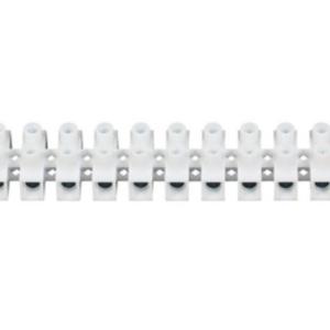 Sponka, vrstna, dvoredna, PS, 25mm²(25-35mm²), inštalacijska, vijačna, 12-polna, PP, bela, 5/100