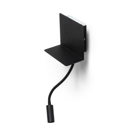 ROSTAM stenska z USB črna  230V LED 2x3W  3000K